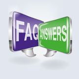 Bubbles with FAQ and answers. Bubbles and speace with FAQ and answers Stock Image