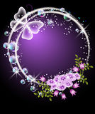 Bubbles,  flowers  and butterfly Royalty Free Stock Image