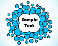 Bubbles frame. Abstract blue circles frame. Vector Stock Photography