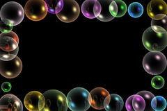 Bubbles frame. Colorful bubbles frame for occasions royalty free illustration