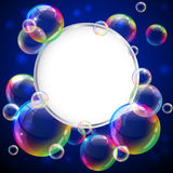 Bubbles frame. Vector illustration - soap bubbles frame. Eps10 vector file, contains transparent objects and opacity mask Royalty Free Stock Images