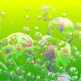 bubbles färgrikt Royaltyfri Fotografi