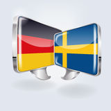 Bubbles in German and Swedish Royalty Free Stock Photo