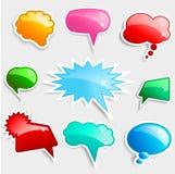 bubbles glansigt anförande stock illustrationer