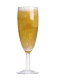 Bubbles in a glass of champagne Royalty Free Stock Photography