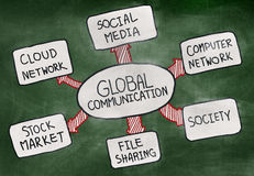 Bubbles of Global Communications Concept Royalty Free Stock Image