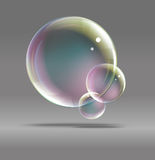 Bubbles on a gray background Royalty Free Stock Image