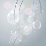 Bubbles on gray Stock Image