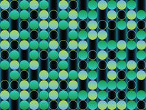 Bubbles green background stock image