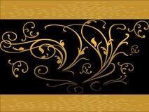 bubbles guld- swirls royaltyfri illustrationer
