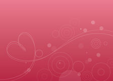 Bubbles and heart. Bubbles, circles & heart floating on pink background Royalty Free Stock Image