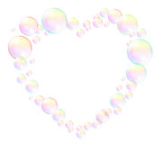 Bubbles Heart Frame Royalty Free Stock Photography