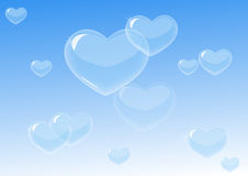 Bubbles heart shapes Royalty Free Stock Photos