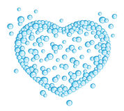 Bubbles heart. On a white background Royalty Free Stock Photo