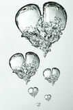 Bubbles hearts Royalty Free Stock Photo