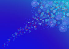 Bubbles with hearts. Color glowing bubble hearts with blue bokeh  background wall paper Royalty Free Stock Image