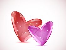 Bubbles Of Hearts. Vector Royalty Free Stock Image