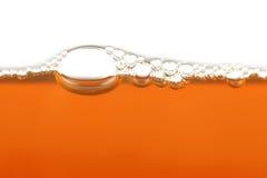 bubbles horisontalorangen Arkivbilder