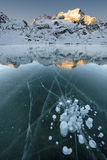 Bubbles in the Ice Stock Image