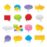 Bubbles icons Royalty Free Stock Photos