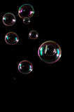 Bubbles isolated on black Royalty Free Stock Photo