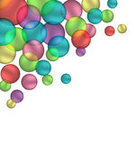 Bubbles isolated on white. Multicolored bubbles isolated on white background Royalty Free Stock Photo
