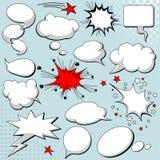 bubbles komikeranförandestil Arkivbilder