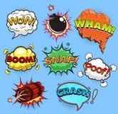 bubbles komiskt anförande Sound effekter vektor vektor illustrationer