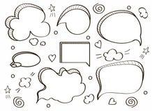 bubbles komiskt anf?rande royaltyfri illustrationer
