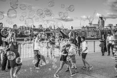 Bubbles london Stock Photos