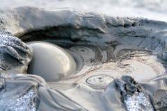 bubbles mud royaltyfria bilder