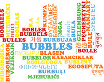 Bubbles multilanguage wordcloud background concept Royalty Free Stock Photo