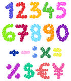 Bubbles numbers. Colorful set of bubbles numbers Royalty Free Illustration