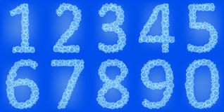 Bubbles numbers Royalty Free Stock Images