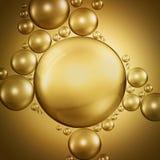 Bubbles in oil Stock Photo