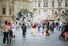 Bubbles. Old Town, Prague, Czech Republic Stock Photo