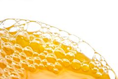 Bubbles of orange juice Royalty Free Stock Photos