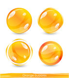 bubbles orangen Royaltyfria Bilder
