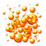 bubbles orangen Royaltyfria Foton