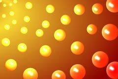 bubbles orangen Royaltyfri Bild