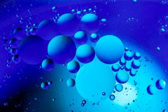 Bubbles of oxygen in water. Water structure. Abstract water bubbles texture background.  stock photography