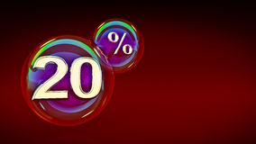 Bubbles 20 percent. 3d rendering Stock Images