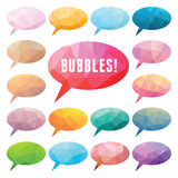 Bubbles Polygonal. Vector set of elements for presentations, comics, blogs, and other design & promotional materials Royalty Free Stock Image