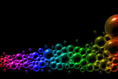 Bubbles in rainbow colors bakground Royalty Free Stock Photo