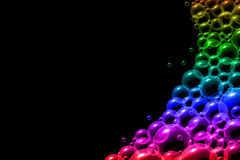 Bubbles in rainbow colors bakground Stock Image
