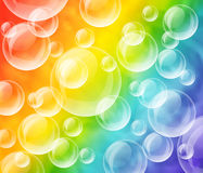 Bubbles and rainbow Royalty Free Stock Images