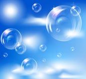 bubbles realistiskt Stock Illustrationer