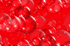 Bubbles on red background Royalty Free Stock Photo