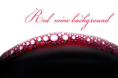 Bubbles of red wine Stock Image
