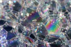 bubbles regnbågen Arkivfoto